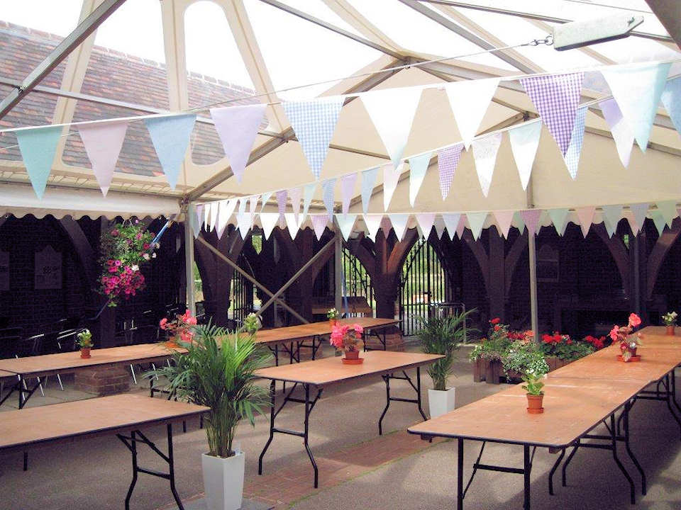 Covered Cloistered Courtyard Available for Hire